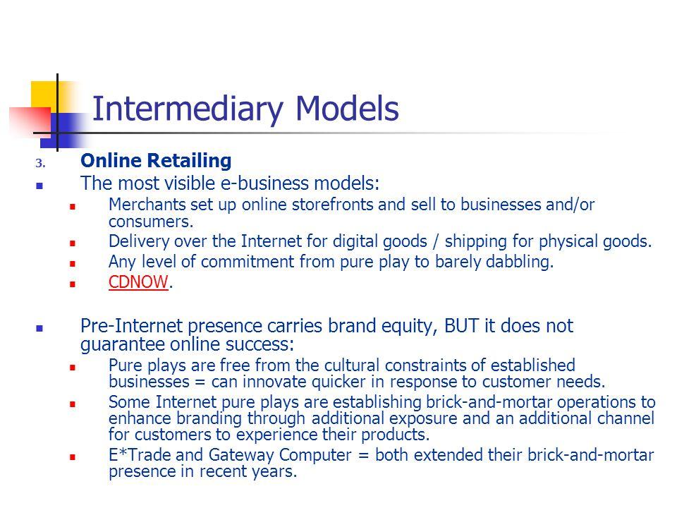 Intermediary Models 3.