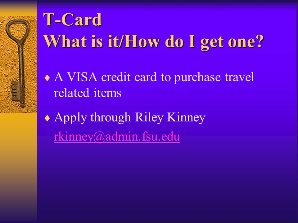 T-Card What is it/How do I get one.