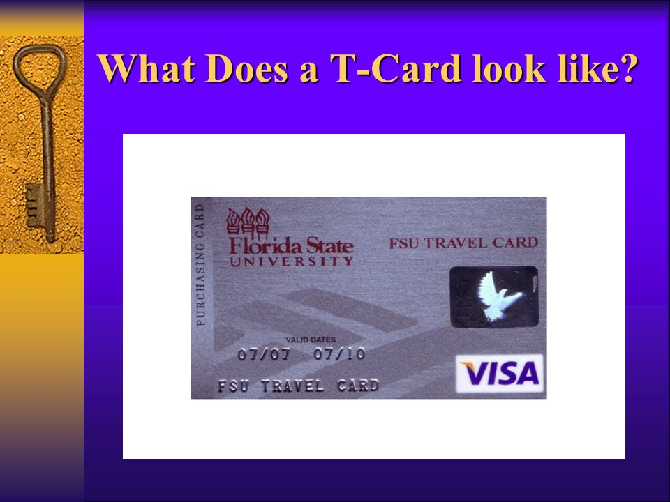 What Does a T-Card look like