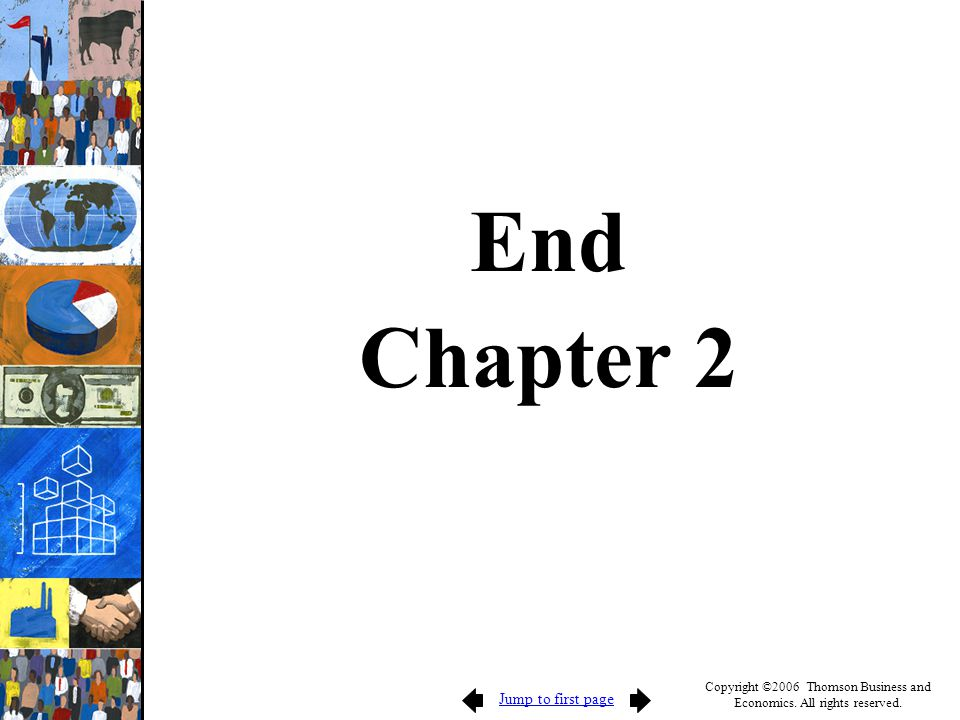 Jump to first page Copyright ©2006 Thomson Business and Economics. All rights reserved. End Chapter 2
