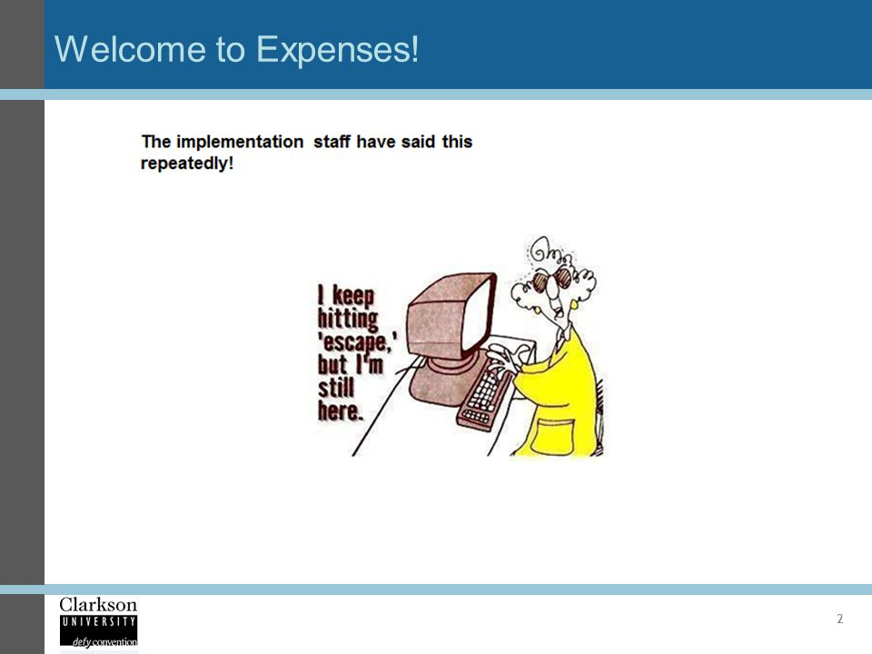 Welcome to Expenses! 2