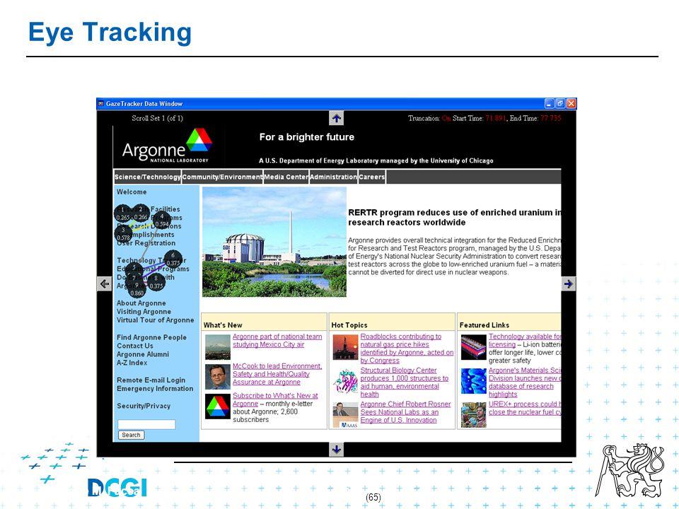 (65) Federico M. Facca 65 Eye Tracking