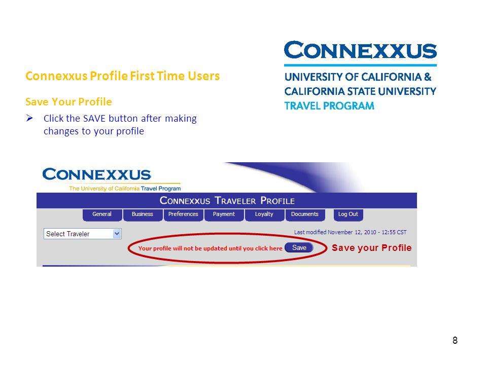 Connexxus Travel Help Desk For questions, assistance or feedback regarding the Connexxus travel program: Email: travel@sfsu.edu 9