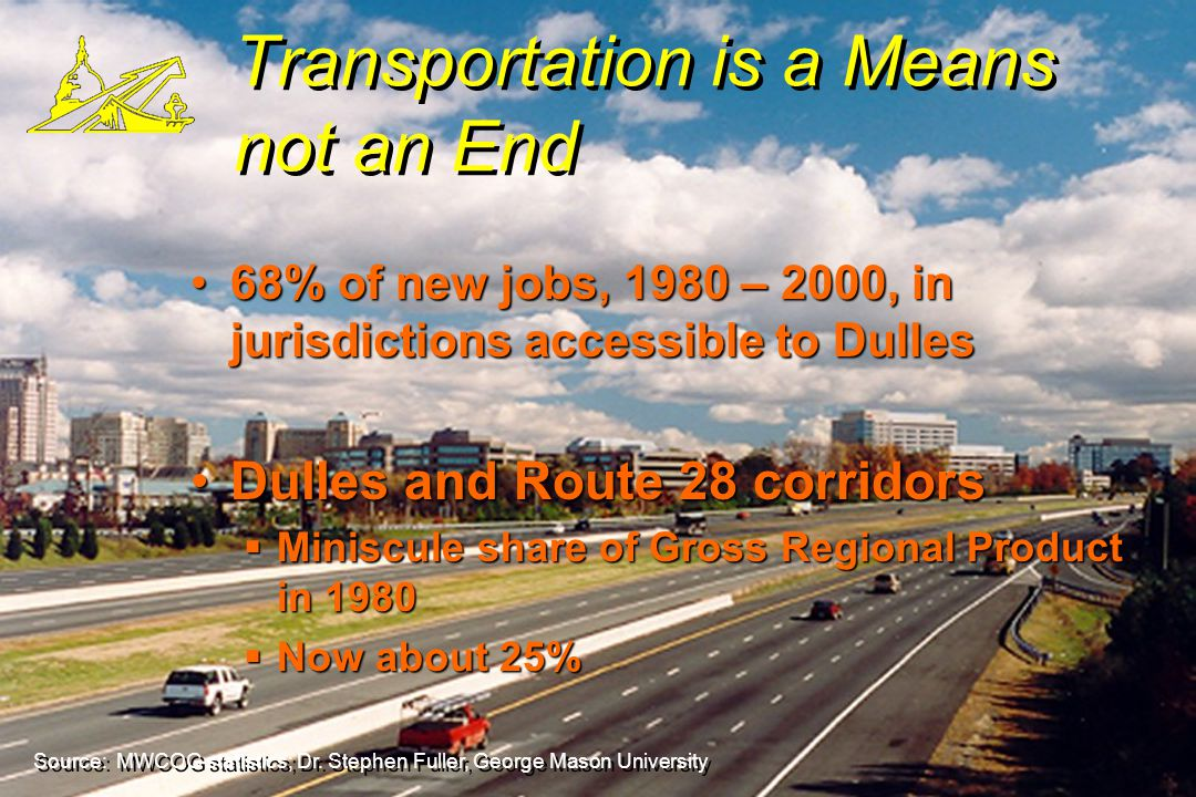 The First Law of the Modern Economy Runway + Demand = New Jobs and Prosperity © WATF 10/06