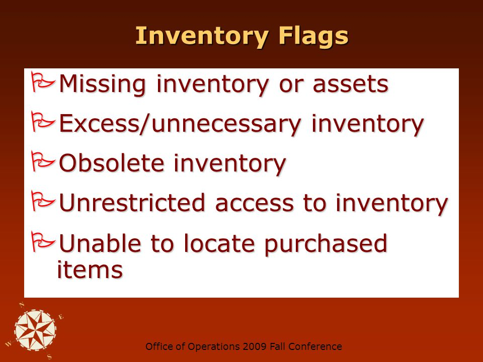 Office of Operations 2009 Fall Conference Shell Company Flags No phone number or fake phone number on invoices No phone number or fake phone number on invoices Address is a post office box or suite number Address is a post office box or suite number No receiving reports No receiving reports