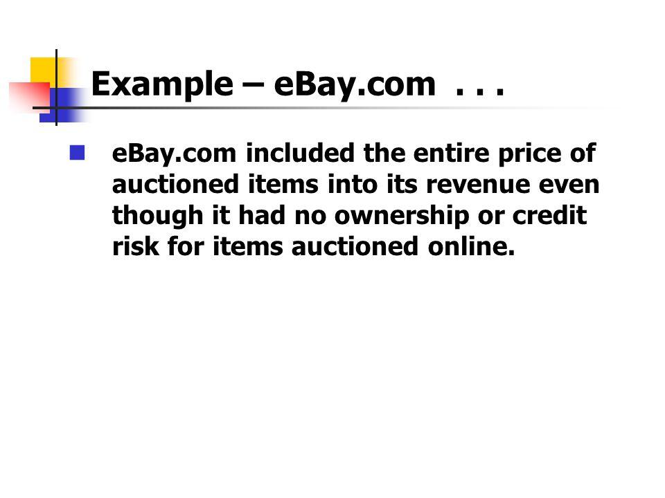 Example – eBay.com...