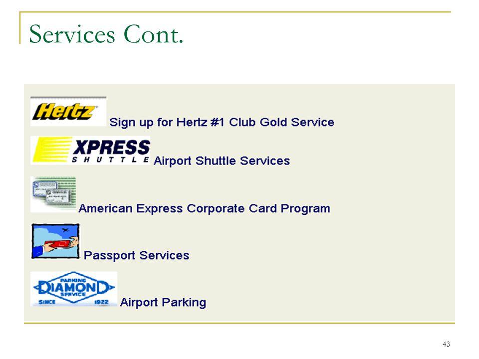 43 Services Cont.