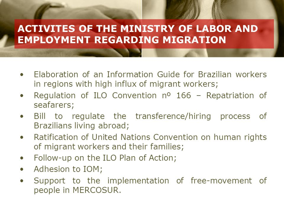 Objective: Provide accurate information on rights, duties, advantages and disadvantages of migration.