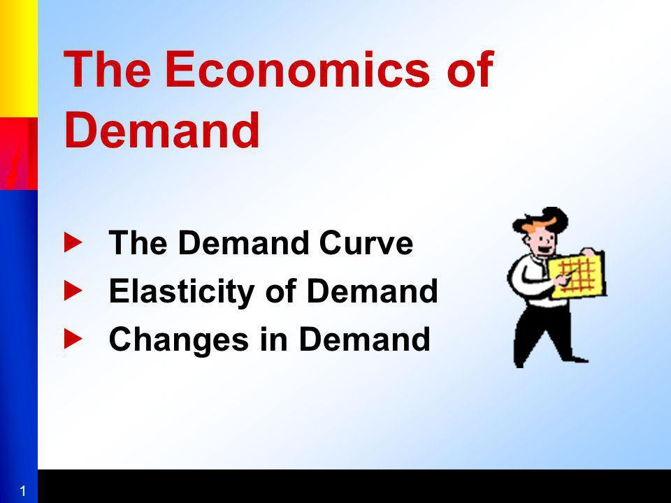 1 The Economics of Demand The Demand Curve Elasticity of Demand Changes in Demand