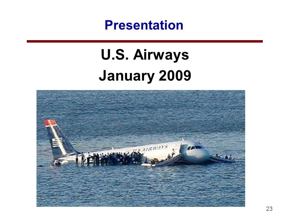 23 Presentation U.S. Airways January 2009