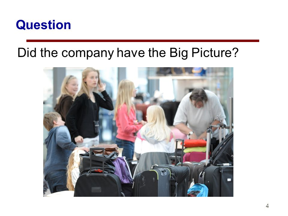 4 Question Did the company have the Big Picture?