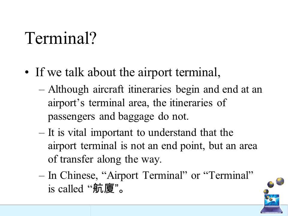 The historical development of airport terminals.