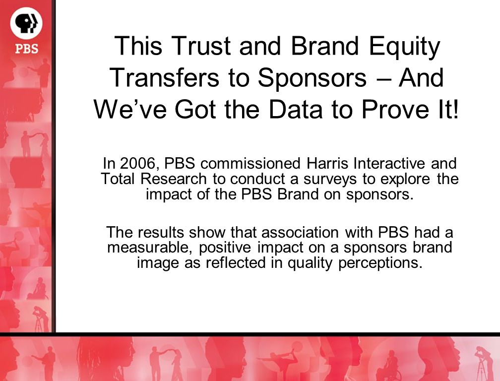 This Trust and Brand Equity Transfers to Sponsors – And Weve Got the Data to Prove It.
