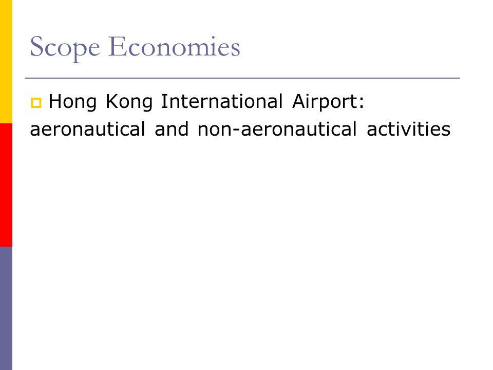 Scope Economies Hong Kong International Airport: aeronautical and non-aeronautical activities