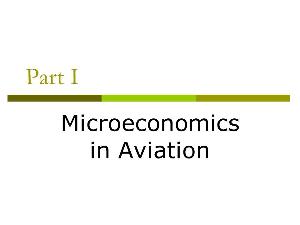 Part I Microeconomics in Aviation