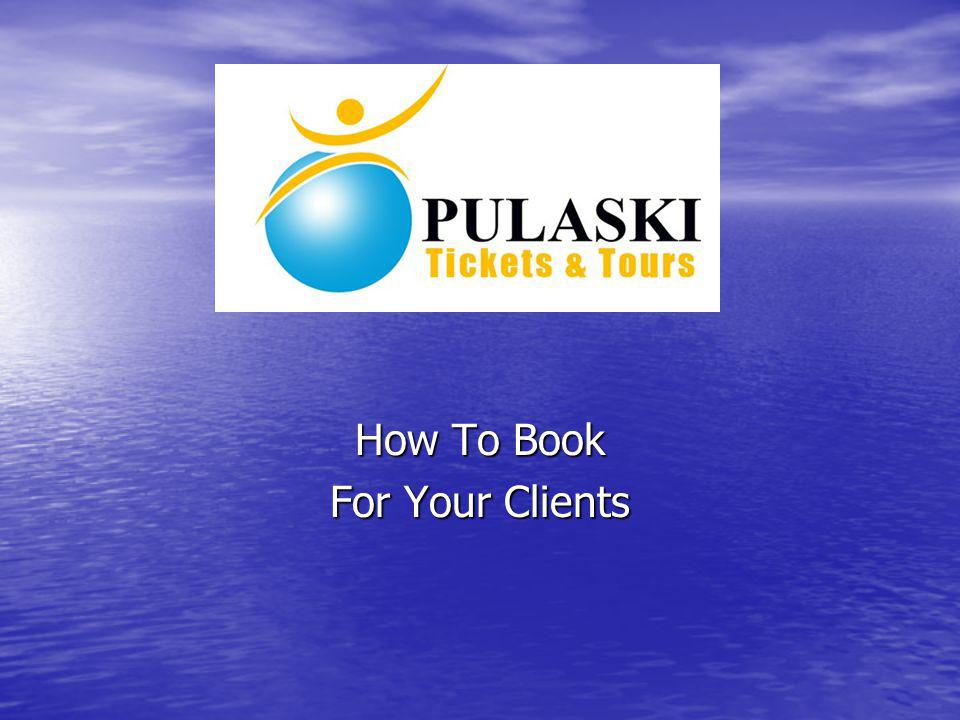 How To Book For Your Clients