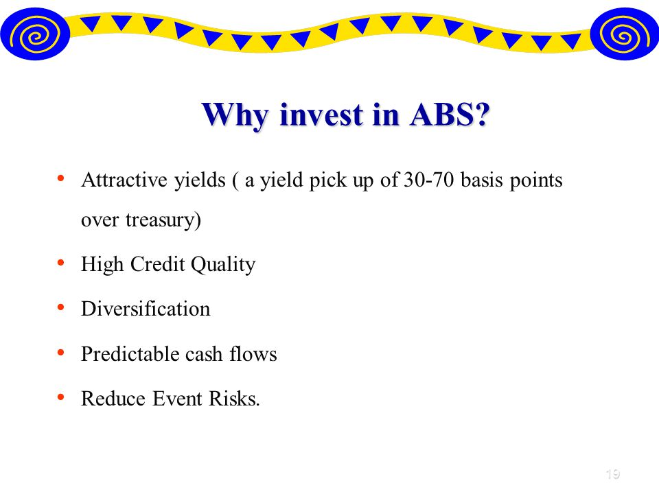 19 Why invest in ABS.