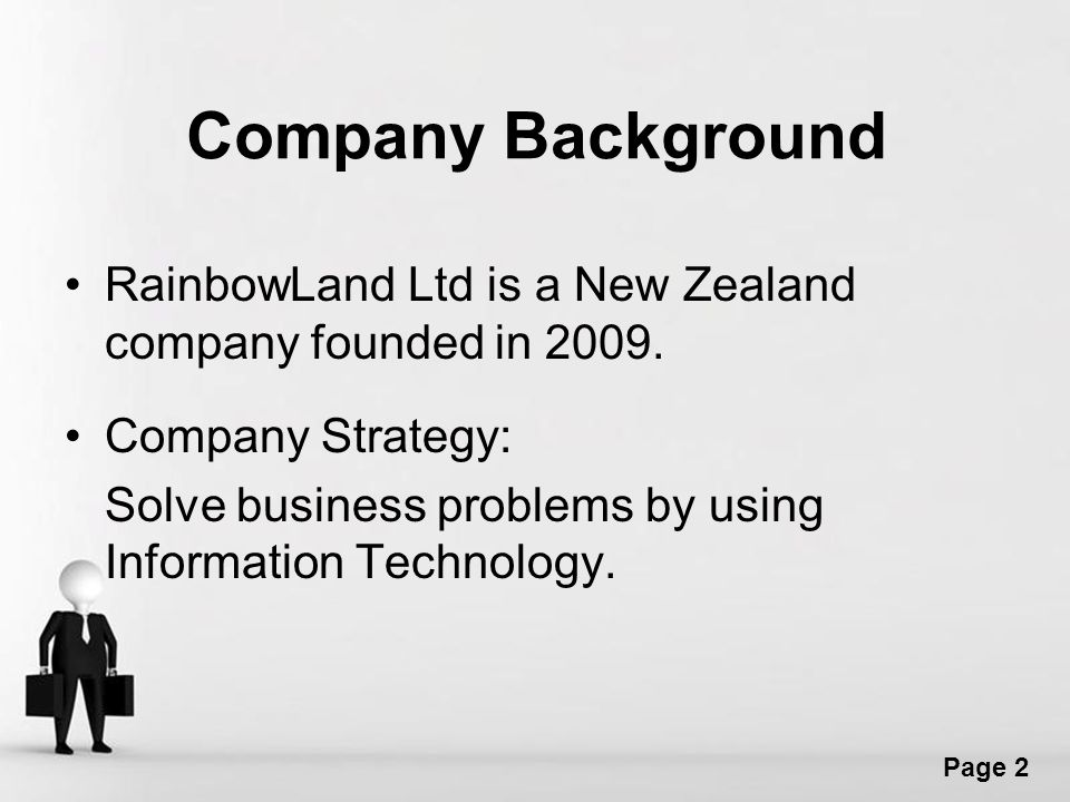 Free powerpoint templates page 1 data extraction and reporting free powerpoint templates page 2 company background rainbowland ltd is a new zealand company founded in toneelgroepblik Choice Image