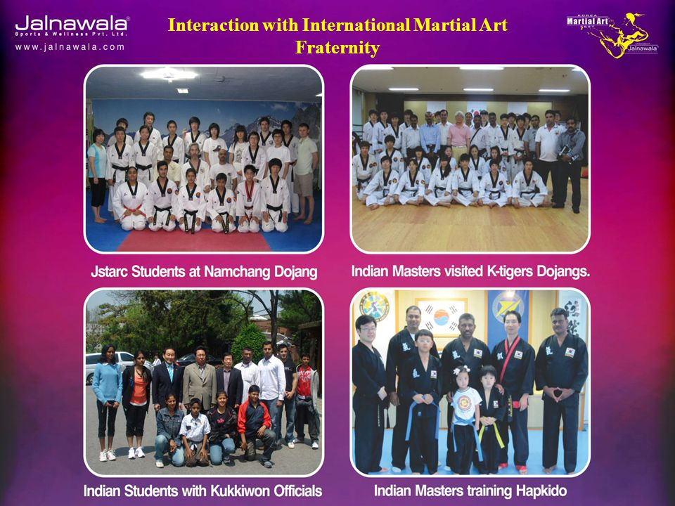 Interaction with International Martial Art Fraternity