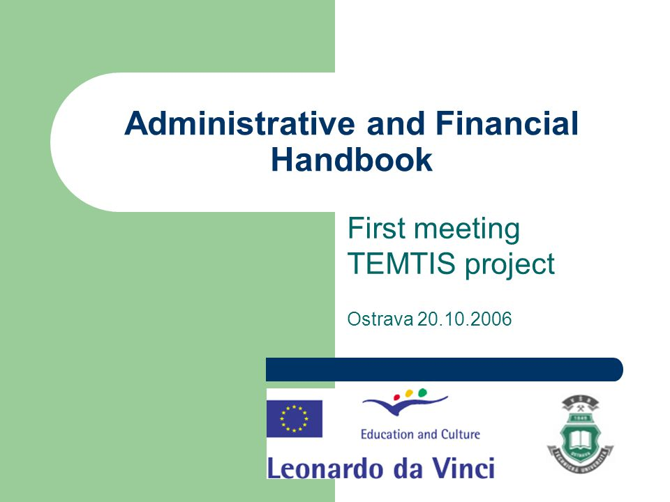 Administrative and financial handbook 7.