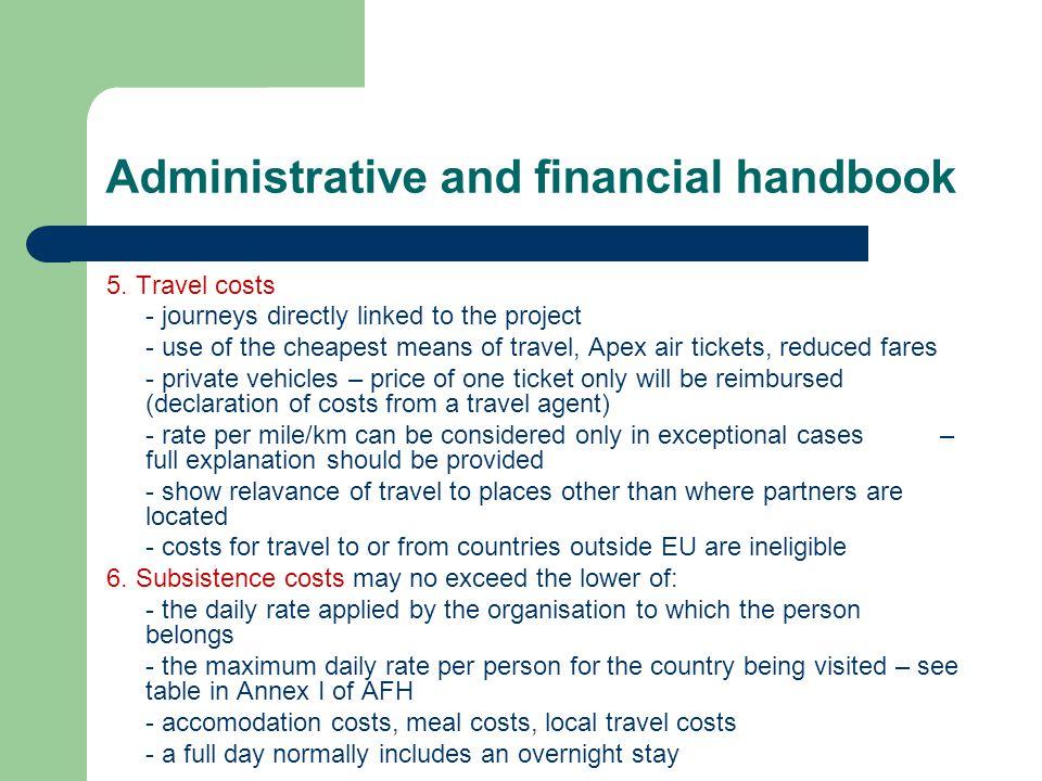 Administrative and financial handbook 5.