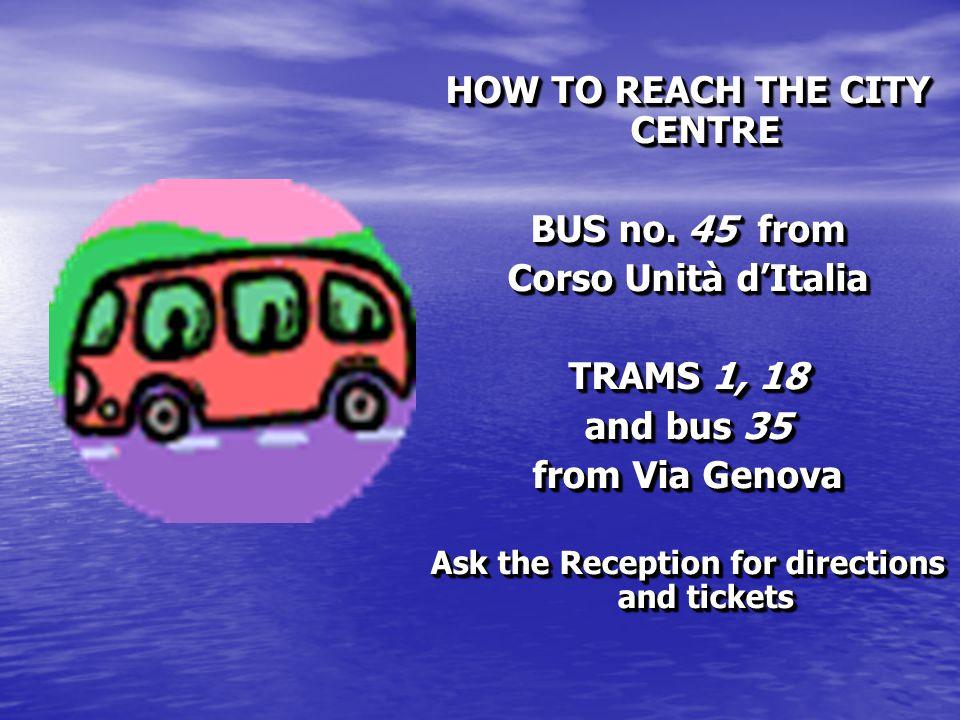 HOW TO REACH THE CITY CENTRE BUS no.