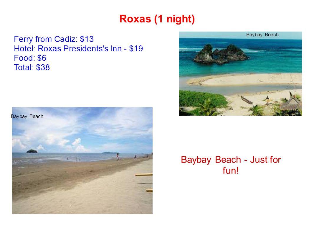 Roxas (1 night) Baybay Beach - Just for fun.