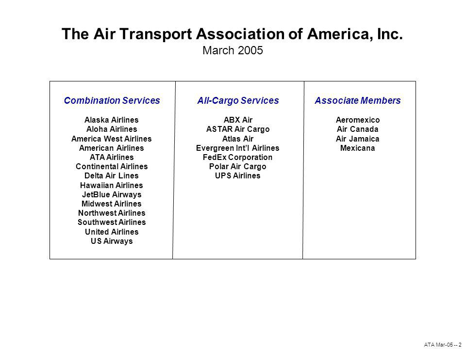 ATA Mar-05 -- 2 The Air Transport Association of America, Inc.