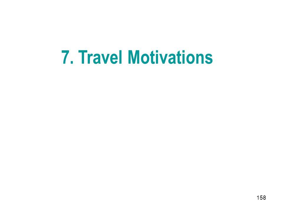 158 7. Travel Motivations