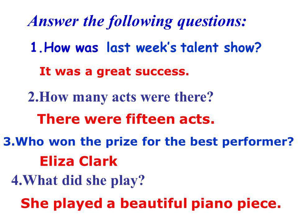 were were best best quietest quietest funniest funniest sang sang