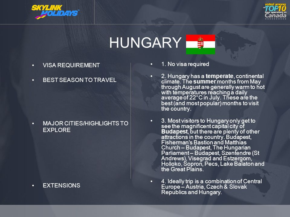 HUNGARY VISA REQUIREMENT BEST SEASON TO TRAVEL MAJOR CITIES/HIGHLIGHTS TO EXPLORE EXTENSIONS 1.