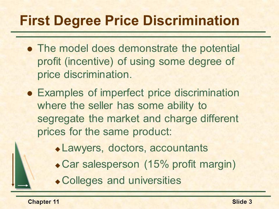 Second-Degree Price Discrimination Quantity $/Q D MR MC AC P0P0 Q0Q0 Without discrimination: P = P 0 and Q = Q 0.