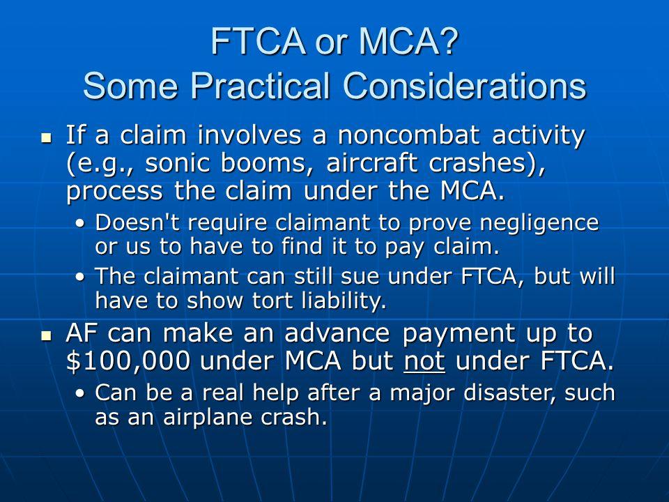 FTCA or MCA.