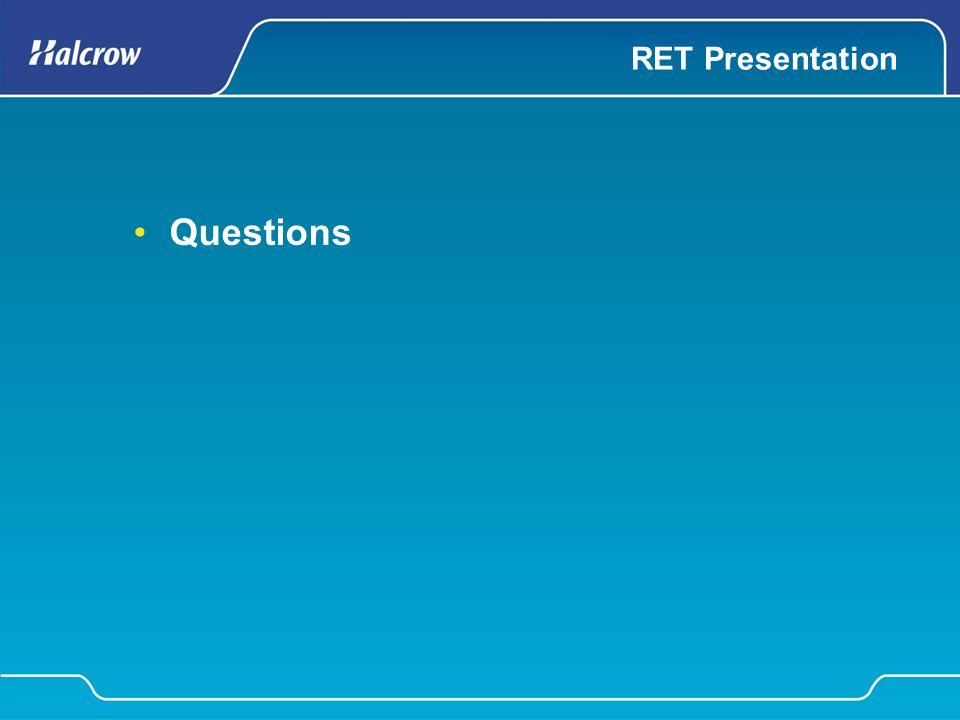 RET Presentation Questions