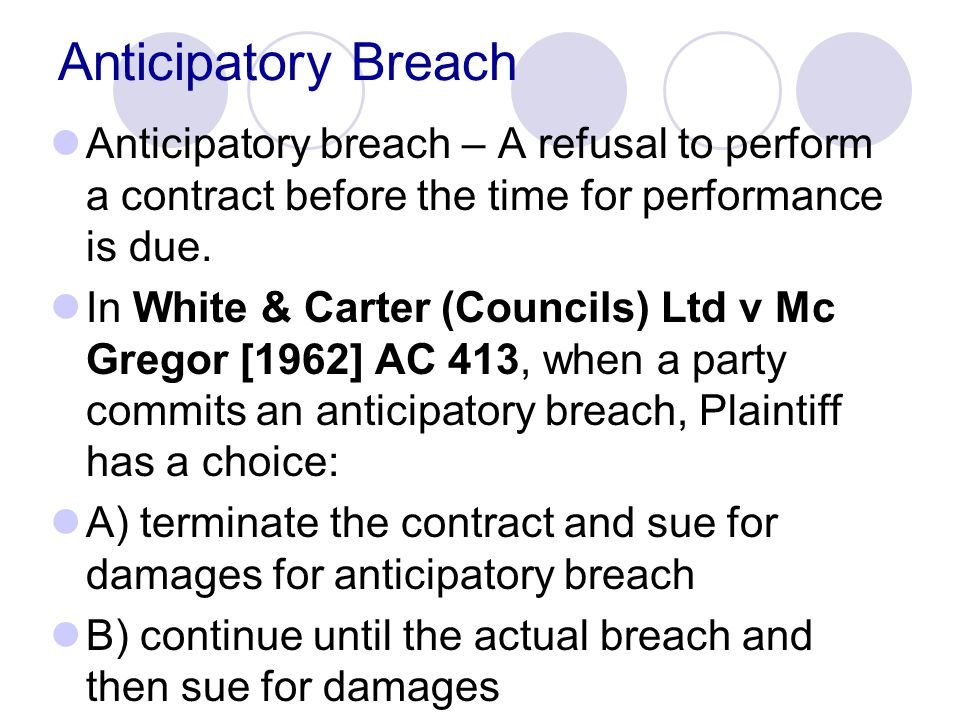 Timing of Assessment of Damages As a general rule, damages should be assessed as at the date of breach.