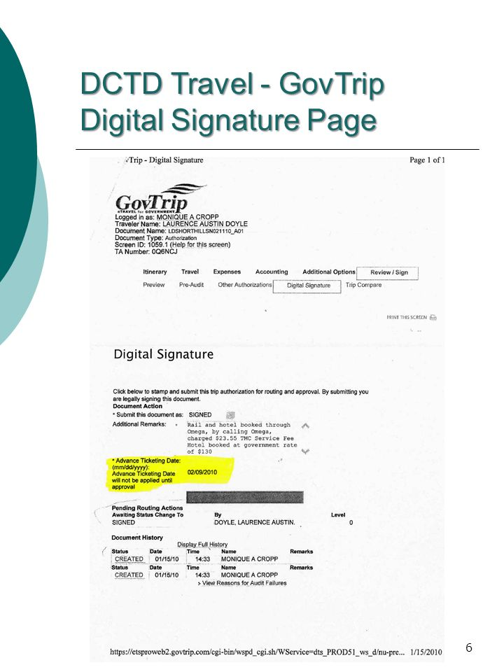 6 DCTD Travel - GovTrip Digital Signature Page