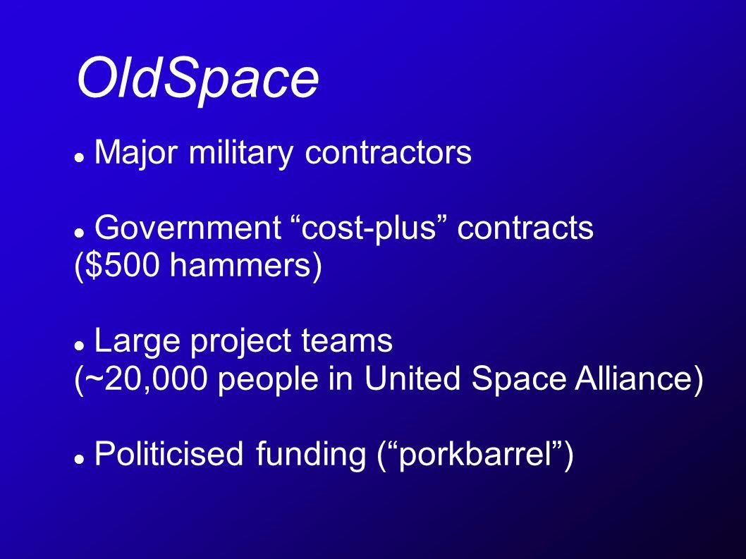 NewSpace Small entrepreneurial companies (e.g.