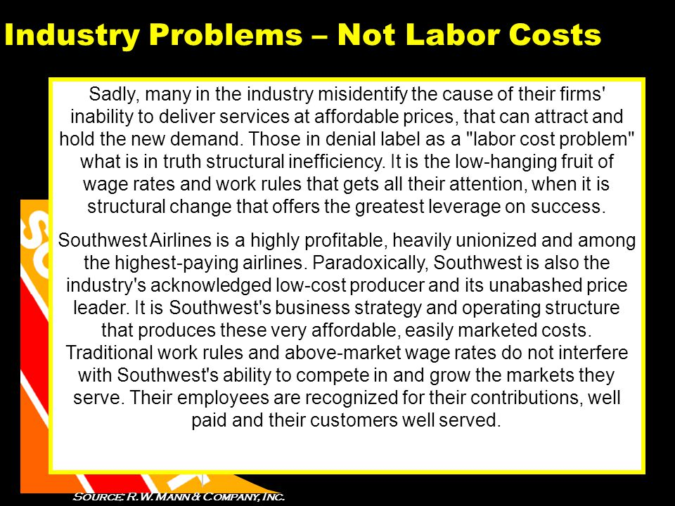 21 Industry Problems – Not Labor Costs Sadly, many in the industry misidentify the cause of their firms inability to deliver services at affordable prices, that can attract and hold the new demand.