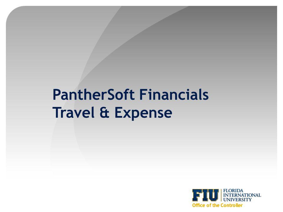 PantherSoft Financials Travel & Expense