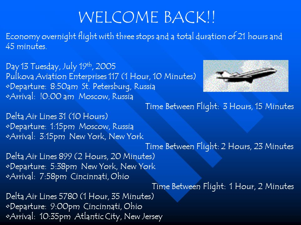 Economy overnight flight with three stops and a total duration of 21 hours and 45 minutes.
