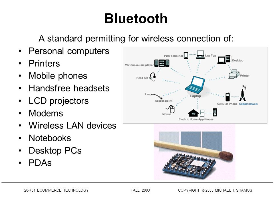 20-751 ECOMMERCE TECHNOLOGY FALL 2003 COPYRIGHT © 2003 MICHAEL I. SHAMOS Wireless LAN Configurations SOURCE: PROXIM.COMPROXIM.COM WIRELESS PEER-TO-PEE