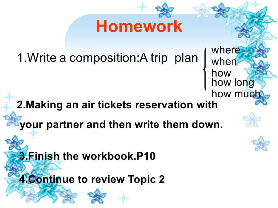 Homework Step Eight