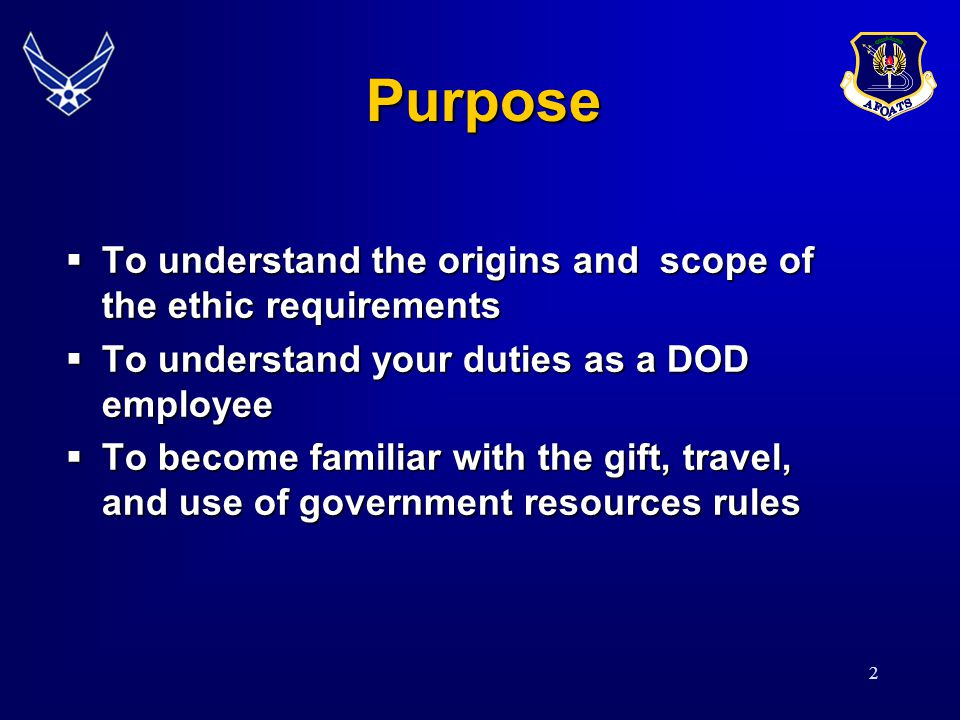 13 Joint Ethics Regulation Key Rules Gift Rules Gift Rules Travel Rules Travel Rules Use of Government Property Use of Government Property Commercial Activities Commercial Activities Fundraising Fundraising