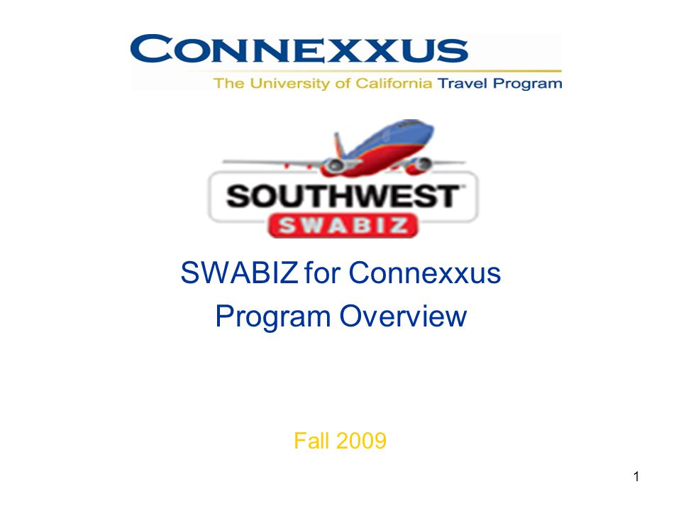 1 n SWABIZ for Connexxus Program Overview Fall 2009