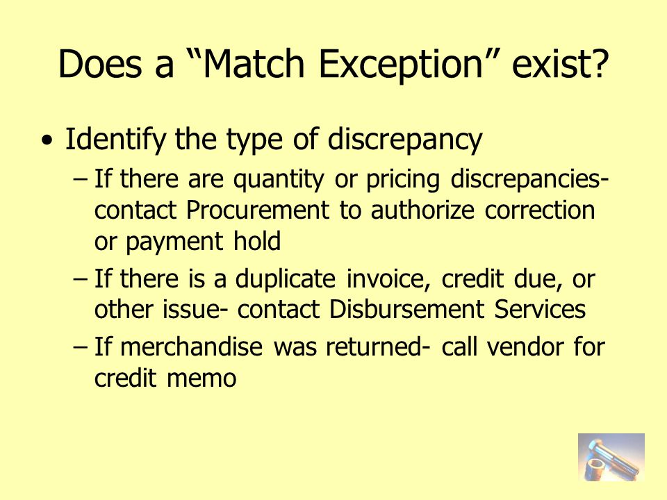 Does a Match Exception exist.
