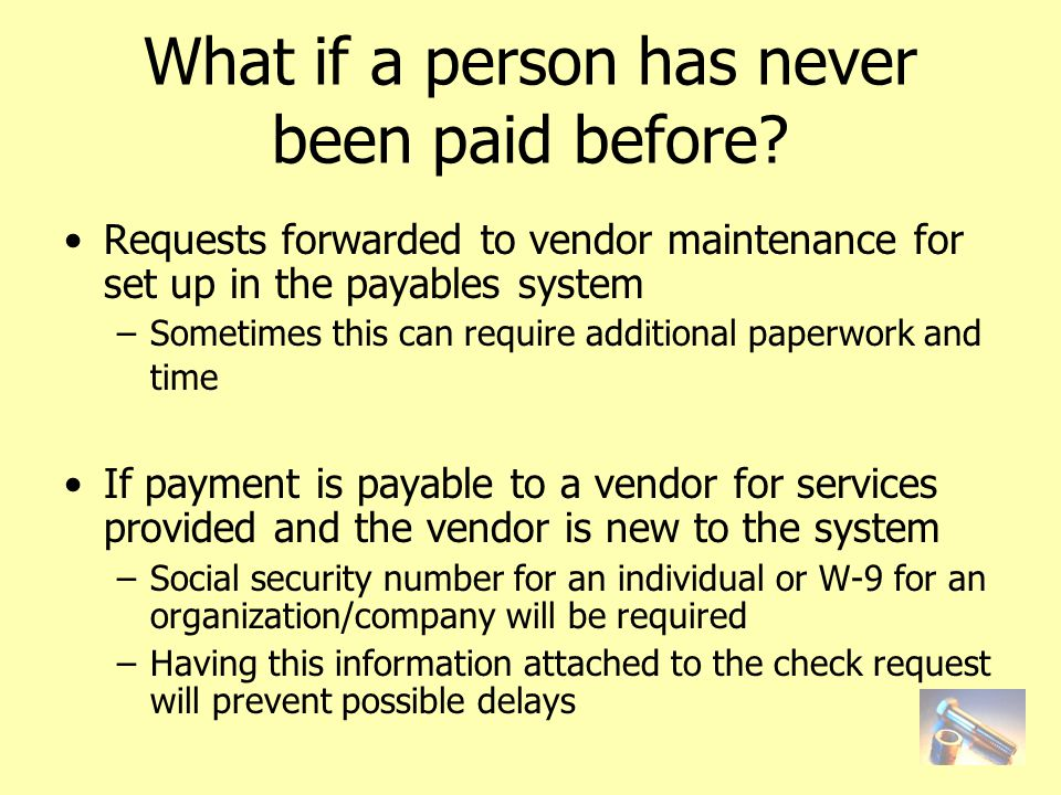 What if a person has never been paid before.