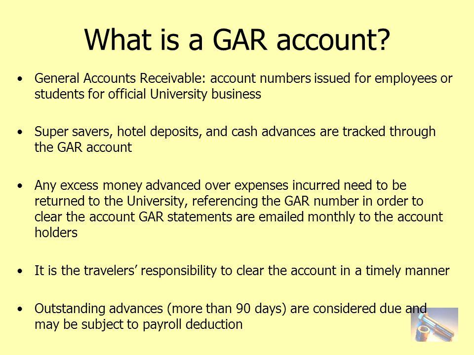 What is a GAR account.
