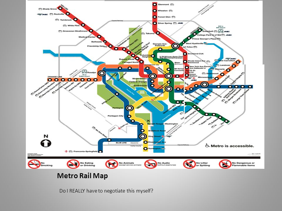 Metro Rail Map Do I REALLY have to negotiate this myself