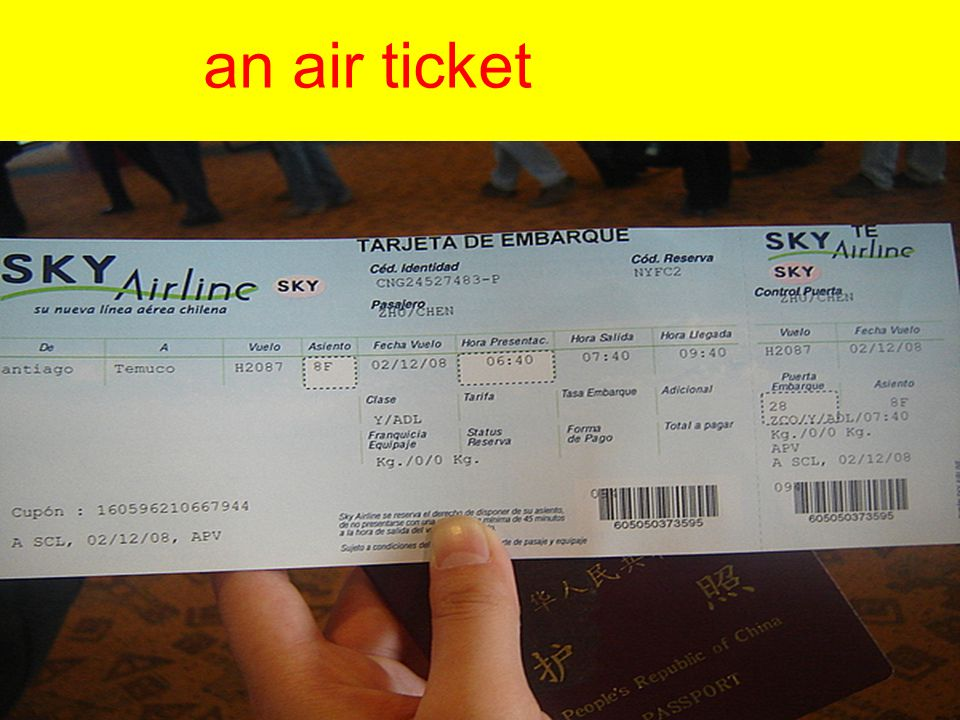 an air ticket