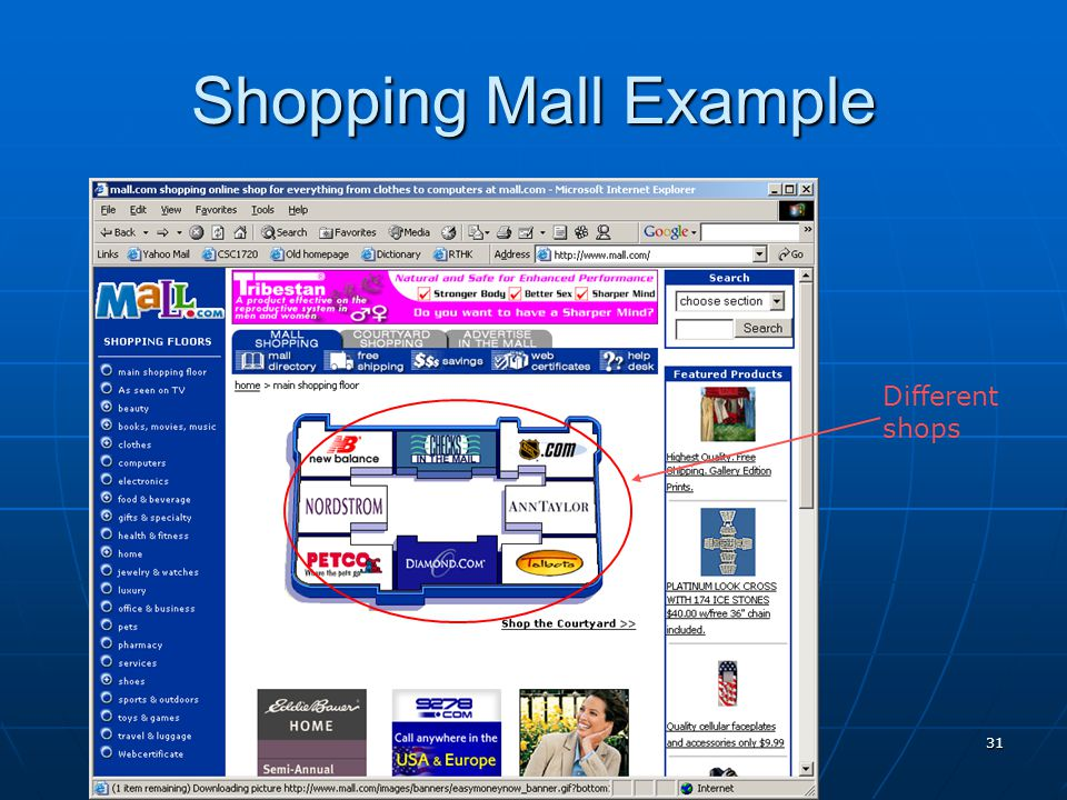 31 Shopping Mall Example Different shops